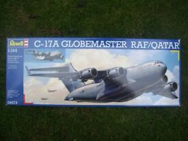 2/3rds off Retail Price! Revell C-17A Globemaster RAF/Qatar Model Kit 1:144 Scale.
