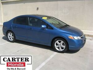 2008 Honda Civic LX w/Sunroof + LOCAL + LOW KMS + ALLOYS + A/C!