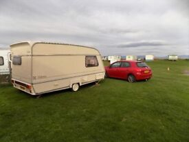 Clean comfortable 2 berth caravan for sale good working order tows well