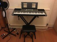 Yamaha PSRE353 Portable Keyboard, Keyboard Stand and Stool