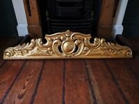 ORNATE GOLD CARVED WOODEN PIECE -REALLY NICE!