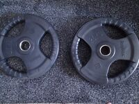 Bodymax Olympic Rubber Radial Weight Plates 20kg x2 CHEAP