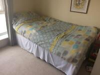 Single bed including mattress & bedding