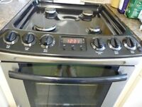 Zanussi ZKG5540XN freestanding 55cm double oven gas cooker stainless steel