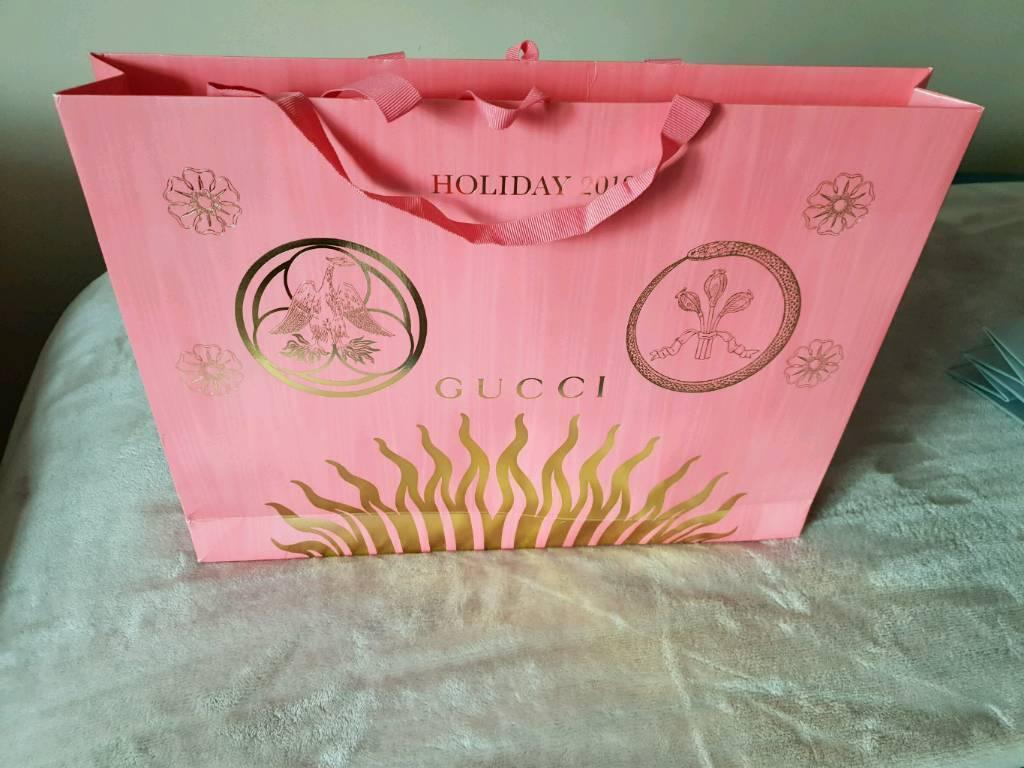 ce8f6610e2 Gucci catalogue, two empty box's ,one Gucci shopping bag.   in ...
