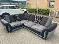 Grey & black DFS corner sofa delivery 🚚 sofa suite couch furniture