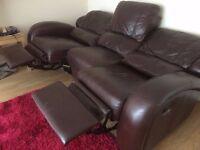3 Seater Recliner Sofa x 2