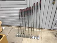 Howson Golf Clubs Full Set Of Irons & Woods. Driver, 3 Wood & 5 Wood. Very Good Condition