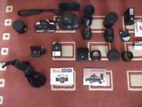 Vintage Pentax Asahi MX 35mm Camera with lots of Accessories