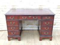Mahogany Strong 3 Part quality desk (Delivery)