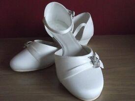 Ivory Diamante Wedge Bridesmaid Shoes, size 12