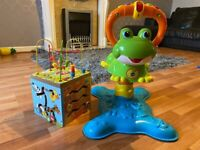 Vtech bouncing frog and activity table