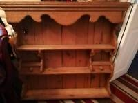 Aged pine kitchen dresser top