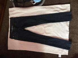 Dark Navy river island jeans size 8
