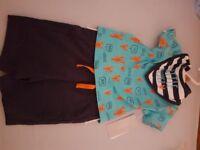Brand new 0-3 months boys shorts set