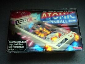 Vintage TOMY Atomic Pinball Boxed Excellent working Condition Boxed