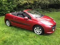 Peugeot 207 CC 1.6 16v Sport AUTOMATIC Convertible 2008 Red