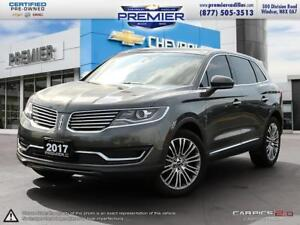 2017 Lincoln MKX Reserve LEATHER, NAVIGATION SUNROOF, LOADED UP