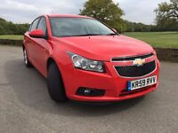 CHEVOROLET CRUZE 1.8 LT AUTO 2010 SAT NAV LOW MILEAGE 1 KEEPER 10 MONTH MOT FULL SERVICE HPI CLEAR