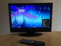 HITACHI 19 INCH TV WITH BUILT IN DVD PLAYER