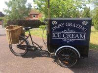 Ice cream bike and trailer
