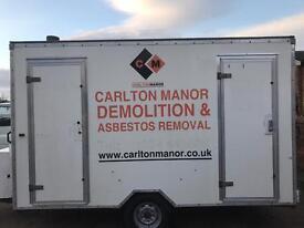 Asbestos decontamination unit trailer
