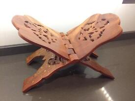 Solid Wood, hand carved book stand