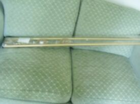 ENIGMA CURTAIN POLE ~ 170 - 300 cms ~ CAGE FINIALS & FITTINGS ~ ALSO MATCHING CURTAIN HOLD BACKS