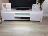 Brand New White Gloss TV unit with LED lights