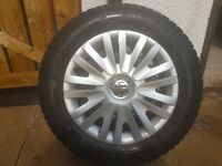 4, 15inch VW wheels with new tyres