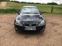 2007 07 LEXUS IS 220D 6 SPEED MANUAL, LOW MILEAGE, FULL DEALER HISTORY, DRIVES LIKE NEW, £3300