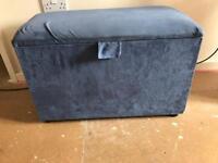 Blue blanket box