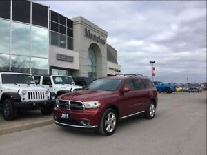 2015 Dodge Durango Limited AWD, Navi, Leather, ONE OWNER