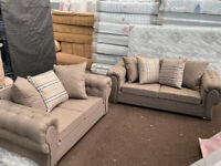🟡🟡 Clerance Offer !! Brand New Beautiful Verona Sofa in Beige 3+2 for urgent Delivery