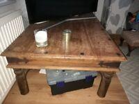 Sheesham wooden coffee table