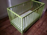 COT BED WITH MATTRESS - NICE PRICE