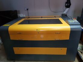 Industrial laser cutter,Engraver 80w - Chiiler and Extractor + Air assist £3800 OBO