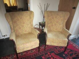 Parker Knoll wingback chairs