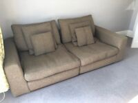 Large 3-seater sofa and arm chair