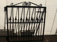 Gate Wrought Iron Good Quality NEW Can be fixed to wooden/steal post or wall.