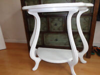 White Shabby Chic Art Nouveau Style Hallway Table