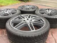 """20"""" VW T5 Audi RS4 Style Refurbished Alloy wheel & 255/35/20 Tyres - 5-6mm 5x120"""