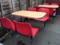 2x Takeaway Cafè Restaurant Tables With 4 Seat EXCELLENT CONDITION