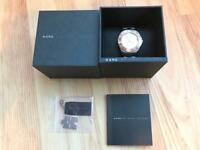 Marc Jacobs stainless steel womens watch in box fully working with extra links and labels