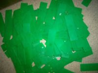 1000no. 28x100x1mm UPVC WINDOW/DOOR GLASS FITTING PACKERS (GREEN)