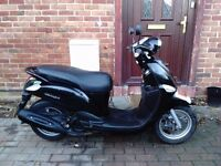 2014 Yamaha Delight 115 scooter, low mileage, cheap insurance, fast as 125, bargain, good runner,,,