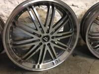 "19"" Audi, Vw deep dish alloys 5x100"