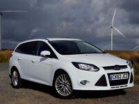 2012 62 Ford FOCUS Zetec ESTATE 1.6TDCi, Navigator, Satnav, Parking Aid, New MOT, F-Sync, £20 Tax
