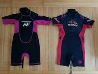 Children's wetsuits ages 3-4 years