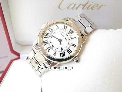 CARTIER RONDE SOLO SMALL  W6701004 STAINLESS STEEL,CARTIER BOX 100%AUTHENTIC